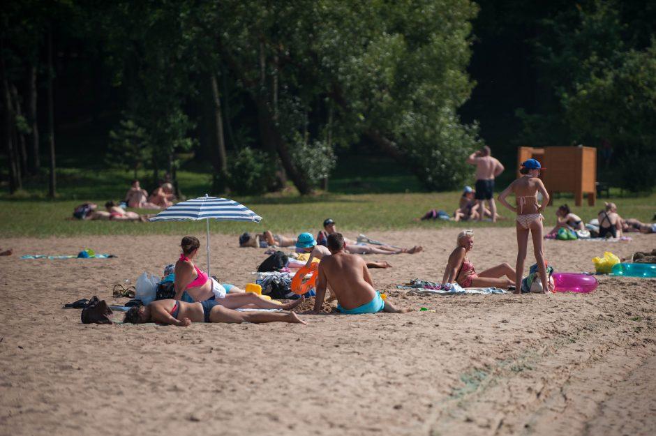Kauno paplūdimiai savaitgalį