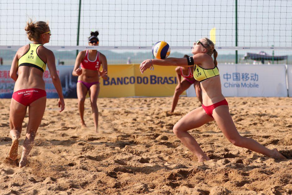 M. Povilaitytė ir I. Dumbauskaitė nepateko į ketvirtfinalį Kinijoje