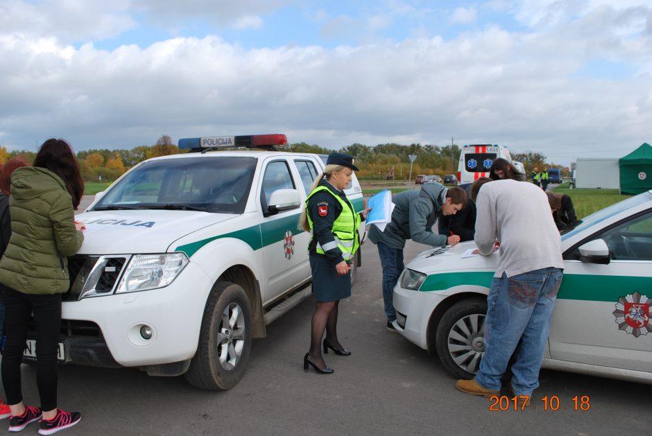 Viktorinoje apie saugų eismą – dešimtys dalyvių