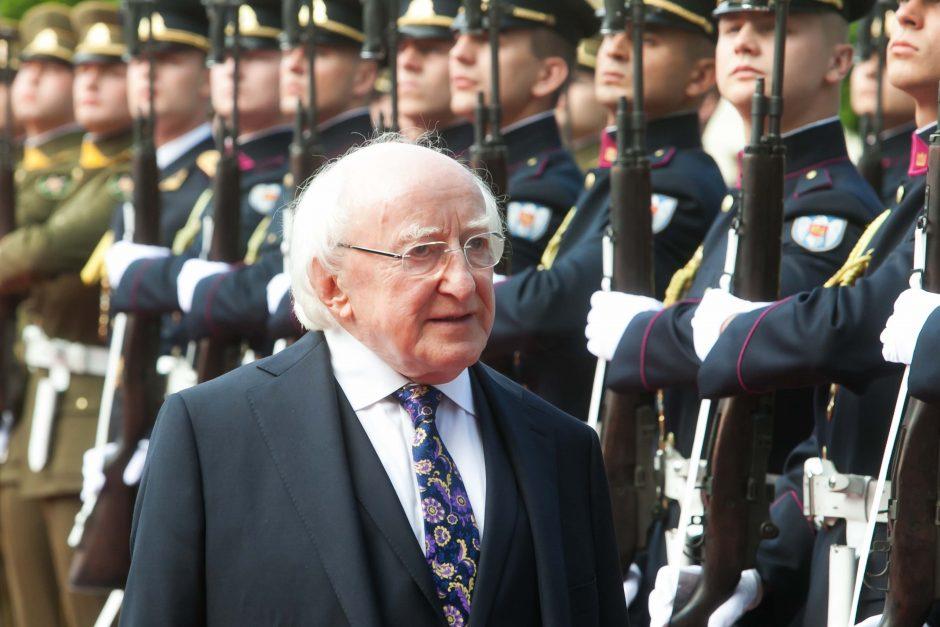 Į Lietuvą atvyko Airijos prezidentas