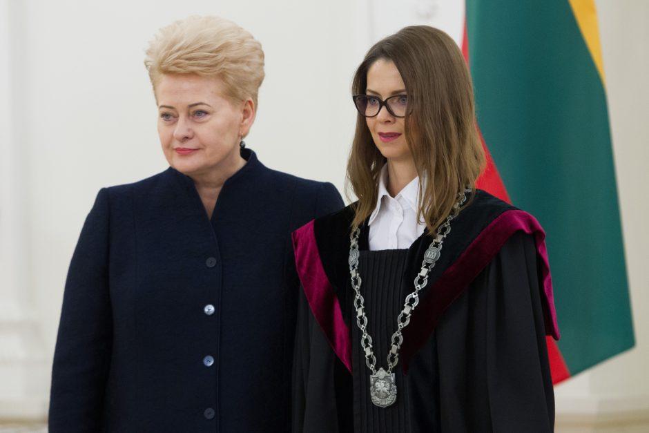 Prezidentūroje prisiekė nauji teisėjai