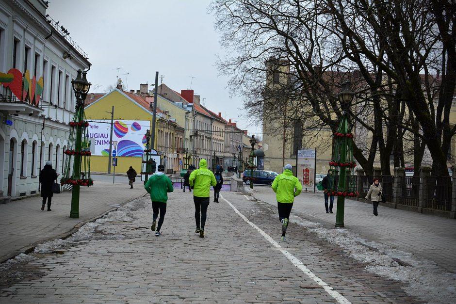 Kauno bėgikai Vasario 16-ąją minėjo savaip