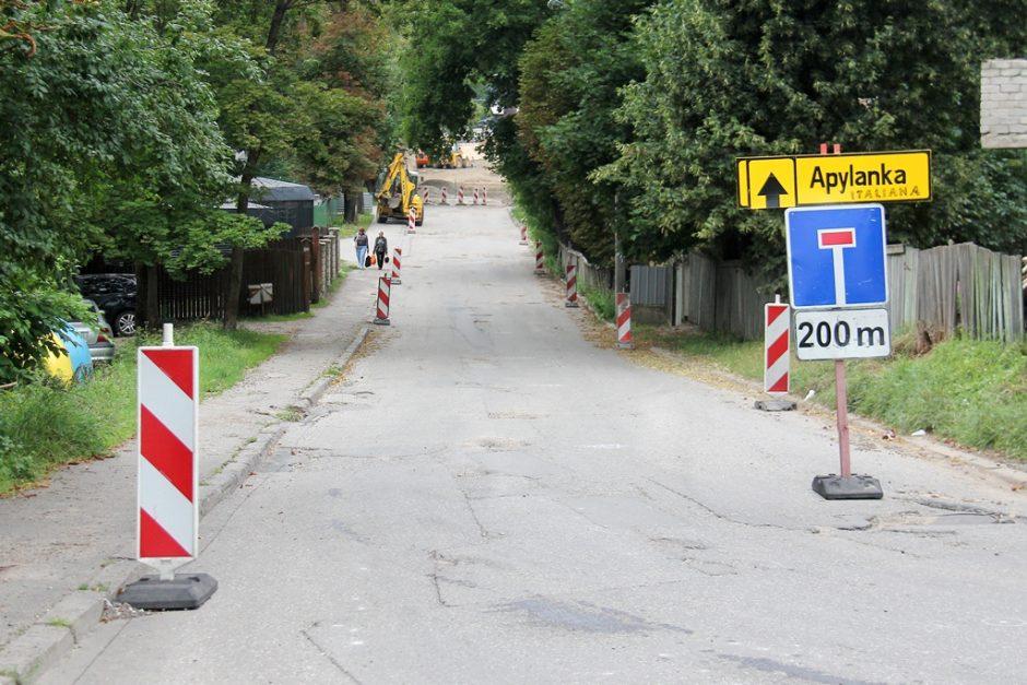 Į ligoninę vedanti gatvė sulaukė remonto