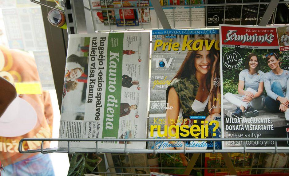 Į spaudos kioską – ne tik laikraščio