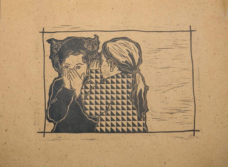 Grafikės R. Stašauskaitės raižiniai: jausmų autoportretai