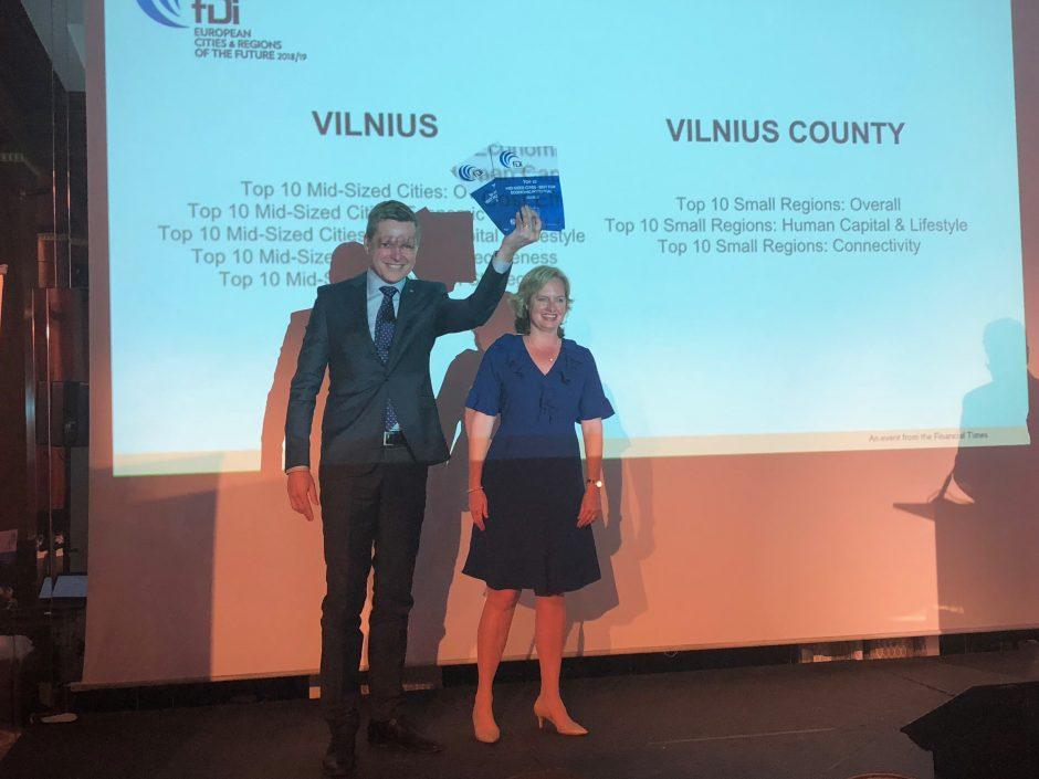 Vilniaus triumfas Kanuose: atsiėmė apdovanojimą kaip ateities miestas
