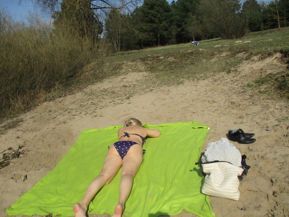 Kauniečiai atidarė pliažo sezoną