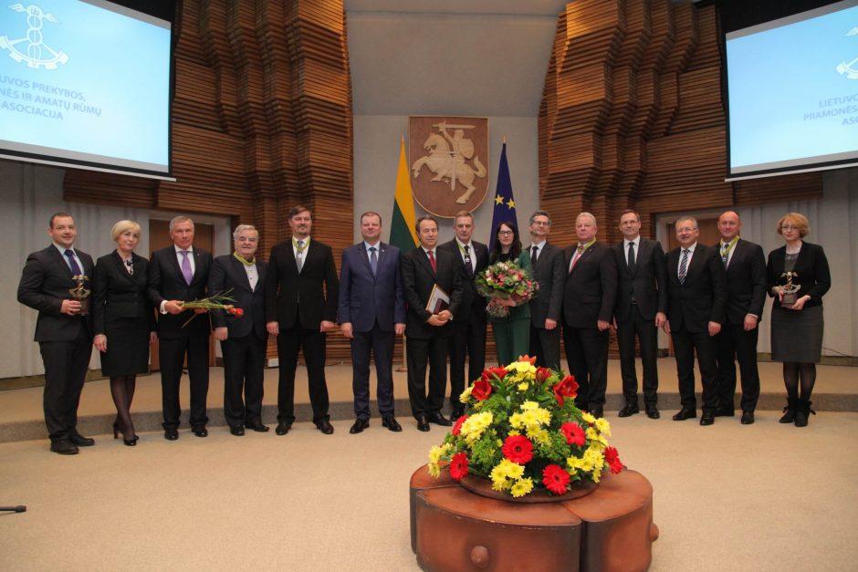 Vyriausybėje įteikti apdovanojimai už eksporto plėtrą ir asmeninius nuopelnus
