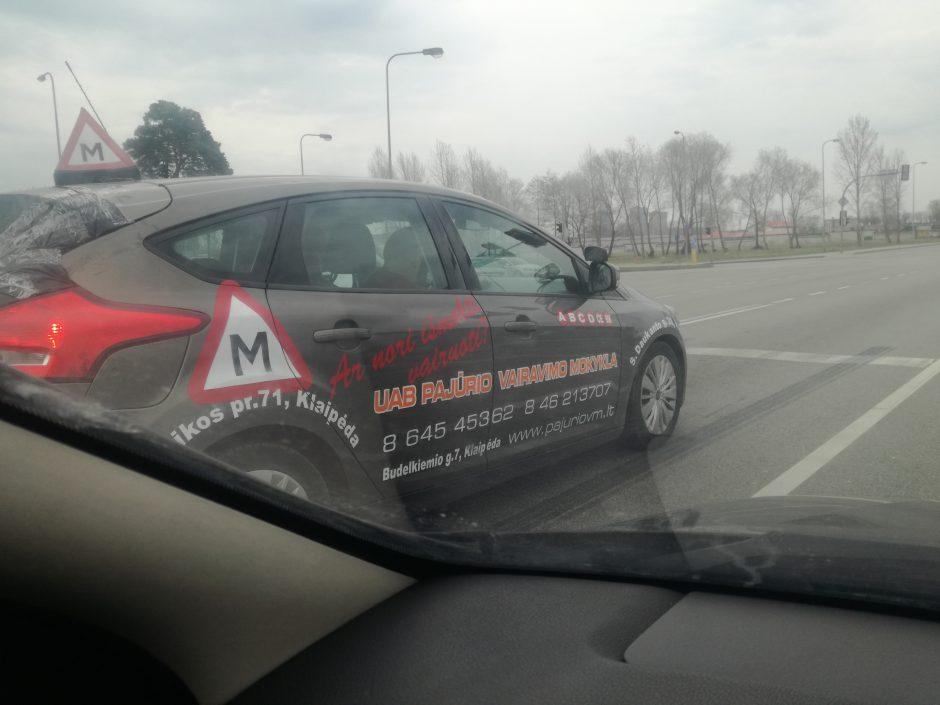 Vairavimo mokytojo pavyzdysklaidina