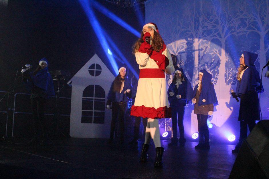 Kalėdų eglės įžiebimas Telšiuose