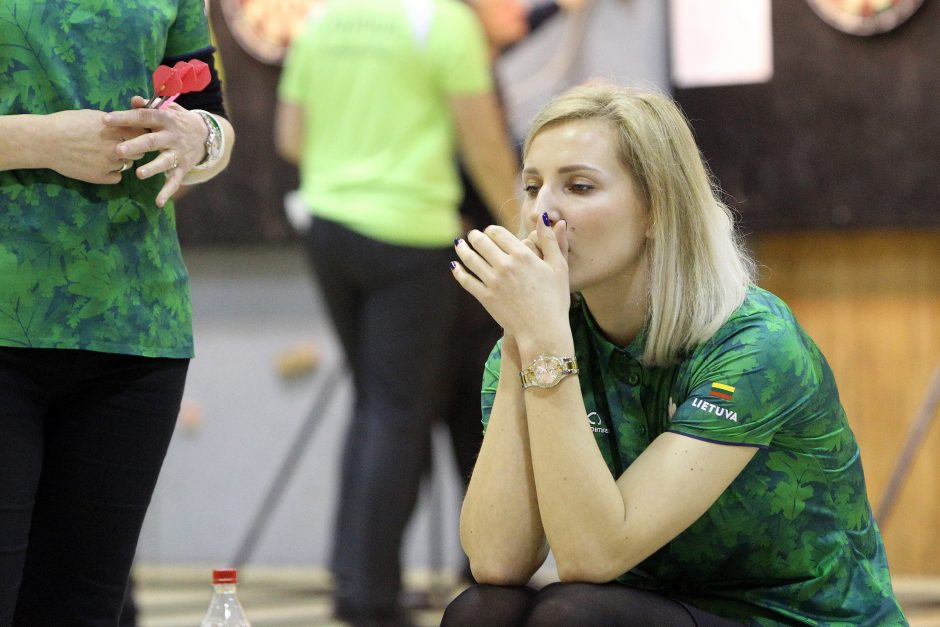 """Šalies smiginio sezono atidarymas: """"KTU taurę"""" laimėjo A. Čiplys ir A. Juknaitė"""