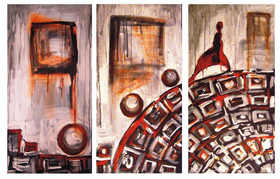 """Tapytojos E.Brinkytės """"Procesas"""" – Rūtų galerijoje Klaipėdoje"""
