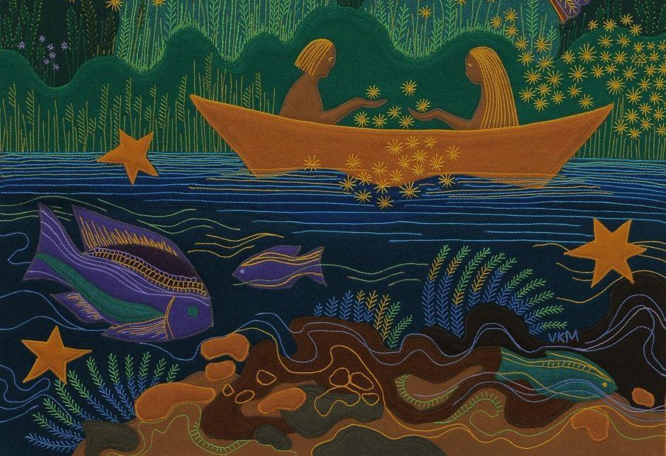 Tekstilės paveiksluose – tikėjimo kelias