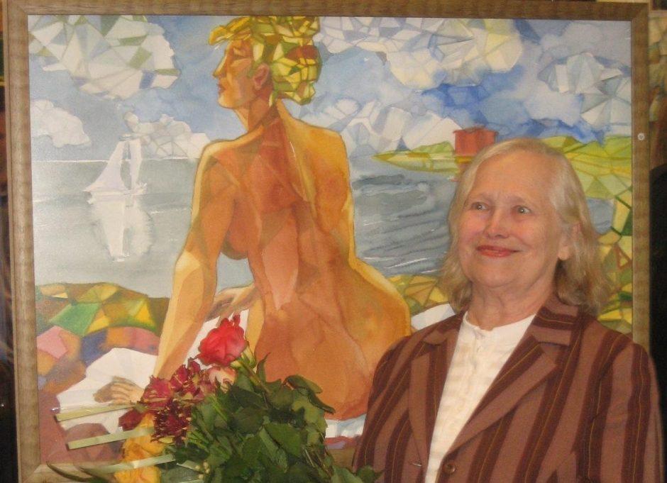 Klaipėdietė akvarelistė R.Lūšis: portretas – mano kūrybos pagrindas