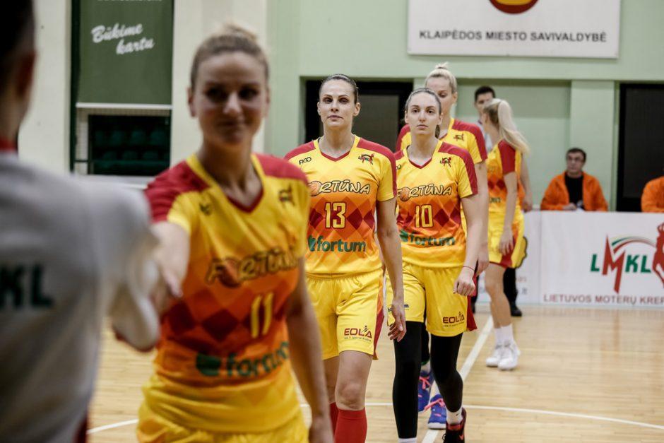 """Fortūnos"" krepšininkės nugalėjo LMKL čempiones"