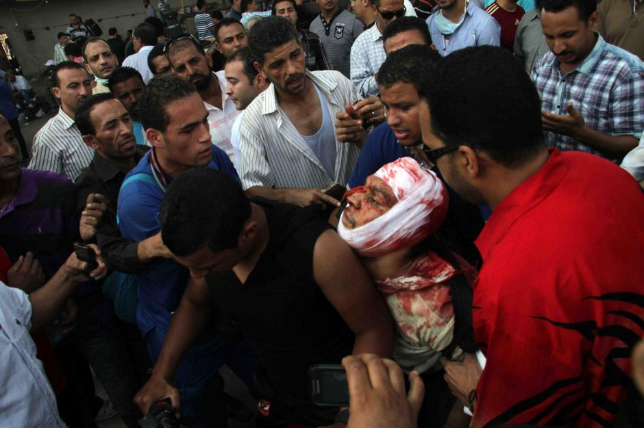 Egipto sostinėje Kaire - demonstracijos ir šūviai