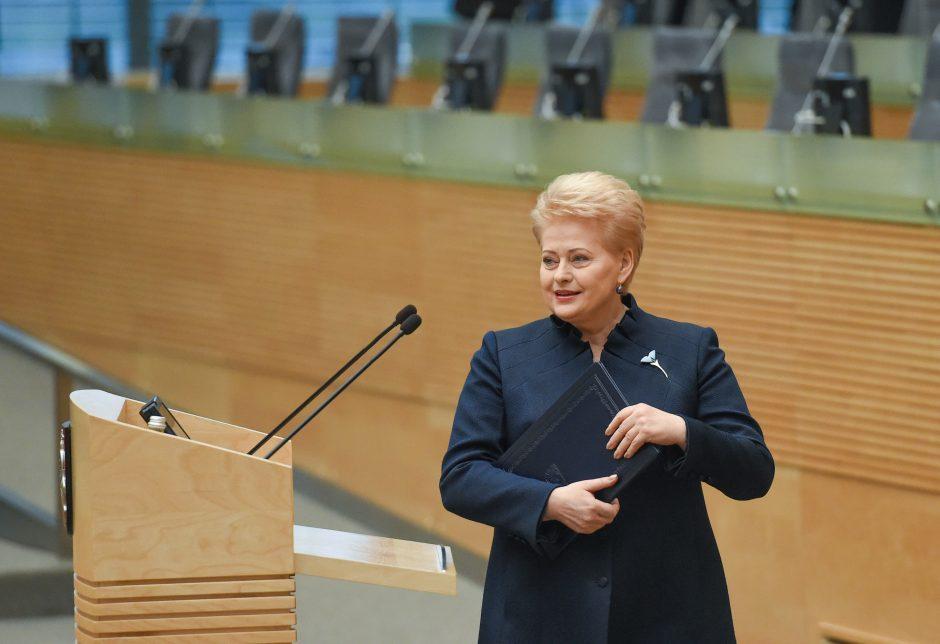 Krito į laiškų skandalą įveltos D. Grybauskaitės reitingas