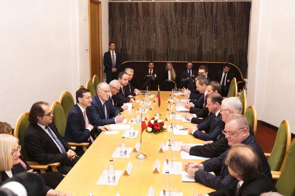 Premjerai pabrėžia bendrų energetikos projektų svarbą