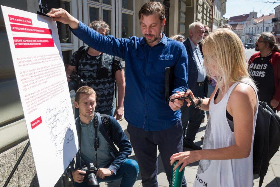 Kūrėjų peticija prie Kultūros ministerijos