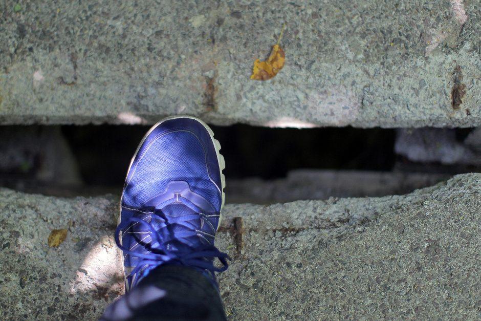 Apgriuvę laiptai Šilainiuose