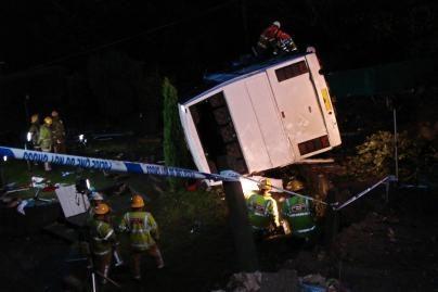 Britanijoje avariją patyrė lietuvius vežęs autobusas