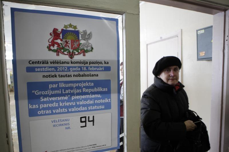Dauguma Latvijos referendume dalyvavusių rinkėjų pasisakė prieš