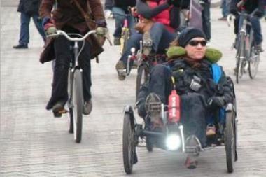 Patrakęs dviratininkas atvyksta į Vilnių (video)