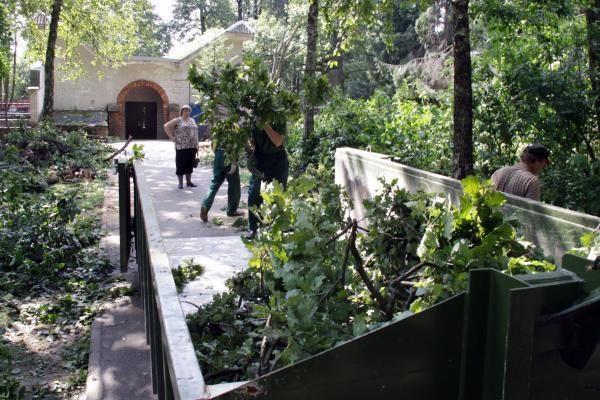 Kariai audros nuniokotą Kauną tikriausiai tvarkys ir kitą savaitę