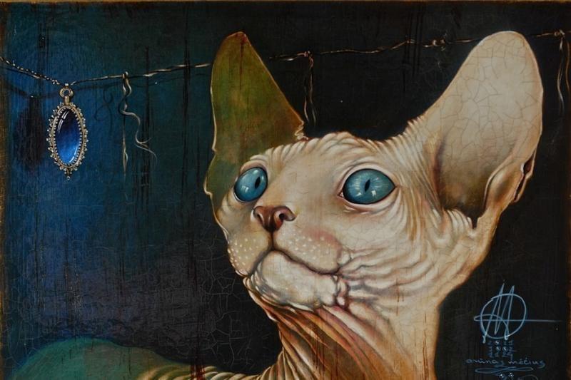 Arūnas Mėčius tapybos parodą paskyrė mylimam katinui
