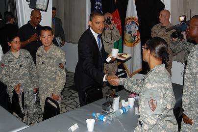 Kandidatas į JAV prezidentus lankosi Irake