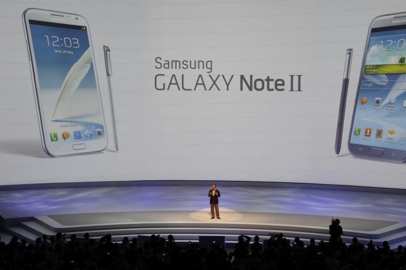 """""""Samsung"""" pristatė išmanųjį telefoną """"Galaxy Note II"""""""