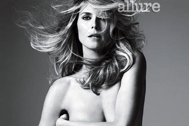 "Heidi Klum nusifotografavo nuoga žurnalui ""Allure"""