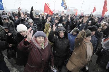 Rusijoje - protesto akcijos prieš V. Putiną