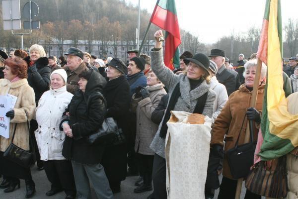 Prieš oligarchus mitingavo keli šimtai žmonių (papildyta)