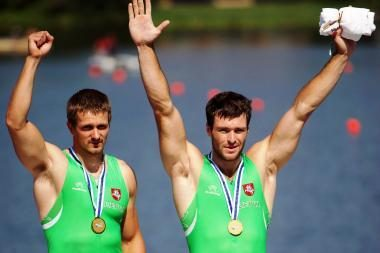 Kanojininkai Raimundas Labuckas ir Tomas Gadeikis - pasaulio sprinto čempionai