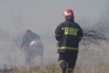 Ugniagesiai vykdys gaisrų atvirose teritorijose prevenciją