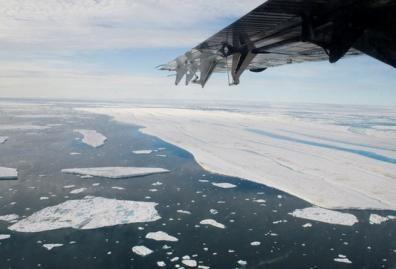 Arktyje atskilo dalis ledyno