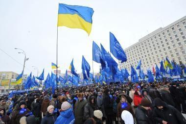 V.Janukovyčiaus šalininkai švenčia pergalę, J.Tymošenko neskuba pasiduoti