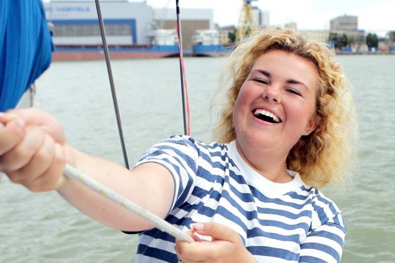 Mėgėjų jachtos kapitonė A. Milvydaitė: Buriuoju nuo šešerių