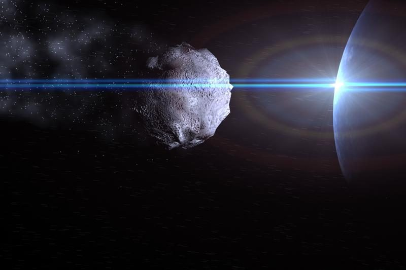 Nauja kovos su asteroidais technologija: tik šiek tiek dažų