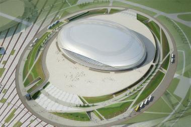 Olimpiados areną Sočyje papuoš stiklas iš Klaipėdos