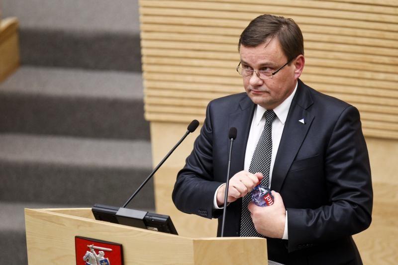 V.Gedvilas gyrė A.Kubiliaus Vyriausybę dėl sėkmingai suvaldytos krizės