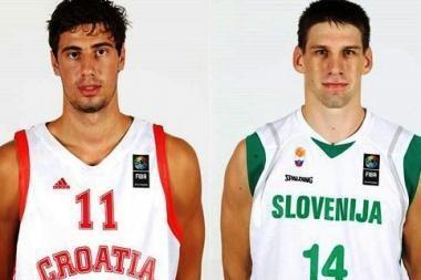 B grupė: slovėnai palaužė kroatus