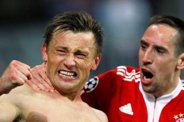 """""""Bayern"""" ir """"Olympique"""" veržiasi į pusfinalį"""