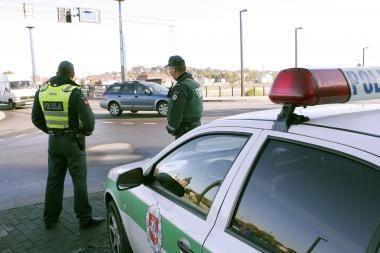 Kauno policininkams kliuvo nuo chuliganų