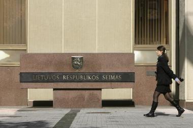 Parlamente - A.Valantino kreipimasis dėl trijų parlamentarų