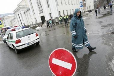 Laisvės alėją kertančiose gatvėse bus draudžiamas eismas