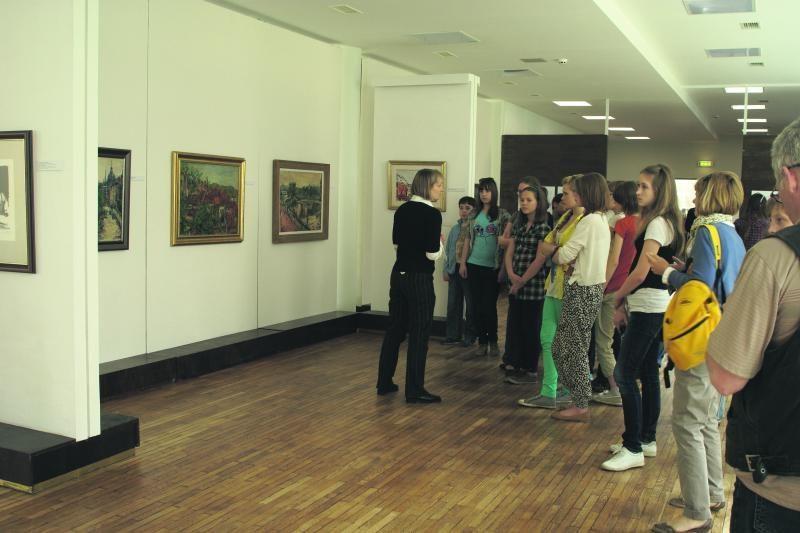 P.Domšaičio galerijoje Klaipėdoje – Arbit Blato parodos palydėtuvės