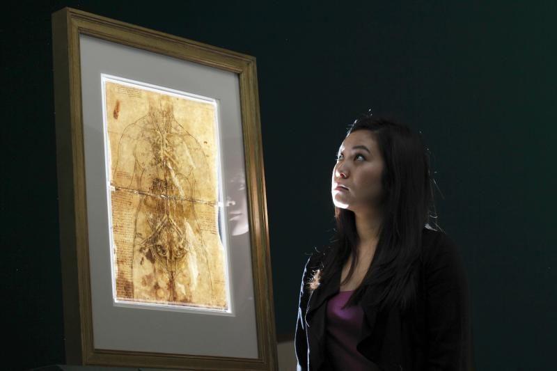 Leonardo da Vinci – neatrastas anatomas?