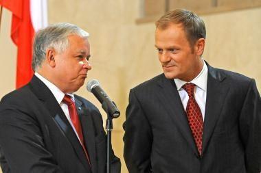 Lenkijos vadovai pešasi dėl užsienio politikos